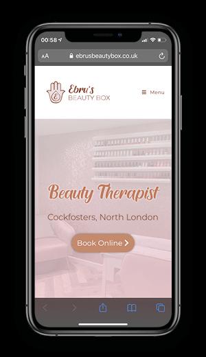 Ebru's Beauty Box - Homepage iPhone