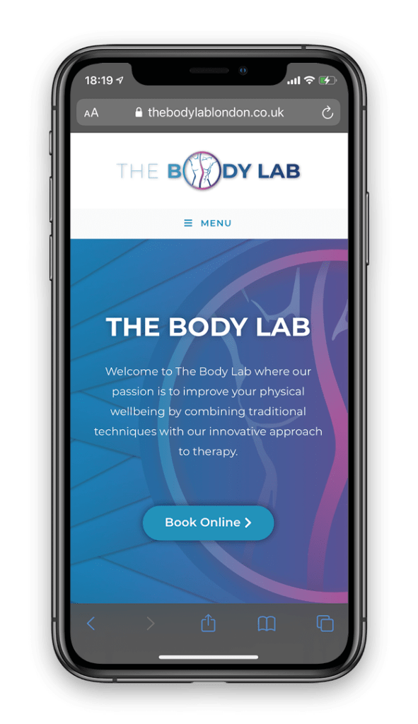 The Body Lab - Mobile Design